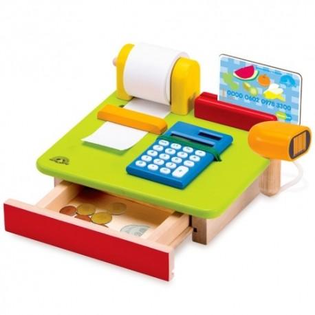 Wonderworld Drevená detská pokladňa - s kalkulačkou