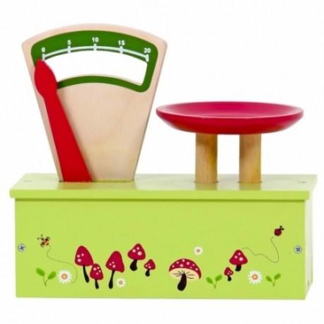 Mentari Drevená detská váha s hríbikmi