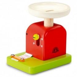 Drevená detská váha - červeno-zelená
