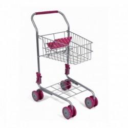 MELOBO Detský kovový vozík na nákupy - šedo-fialový