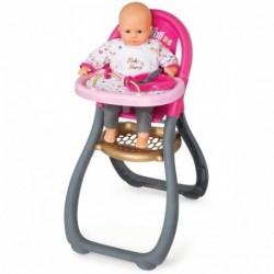 SMOBY Baby Nurse Zlatá edícia jedálenská stolička pre bábiky
