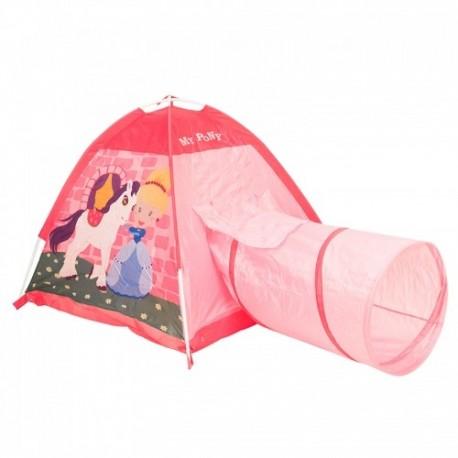 IPLAY Detský stan na hranie s tunelom Poník