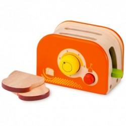 Drevený toaster - oranžový