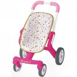 SMOBY detský športový kočík pre bábiku Baby Nurse Zlatá edícia s otočnými kolieskami