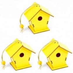 Drevené dekorácie - vtáčie búdky 3 kusy