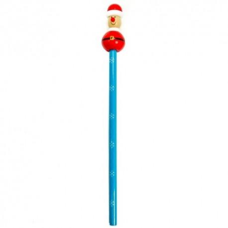 Drevená ceruzka - vianočná - Mikuláš