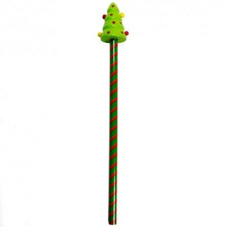 Drevená ceruzka - vianočná - Stromček