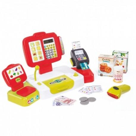 Detská pokladňa Smoby Mini Shop s terminálom - červená