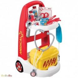 SMOBY Detský lekársky vozík Medical so žltým kufríkom