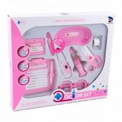 MK TOYS Detský lekársky set s teplomerom - ružový