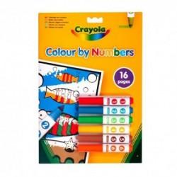 Crayola - omaľovánka podľa čísiel