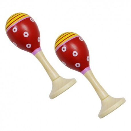 Rumbagule - maracas červené - 1 pár
