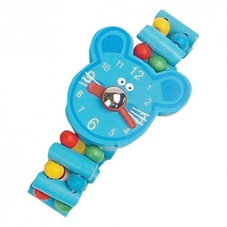 Detské drevené hodinky - myška
