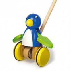 Legler Drevená hračka na tlačenie - Vták modrý