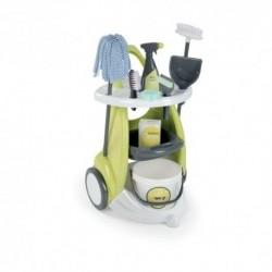 SMOBY detský upratovací vozík Clean Service a 9 doplnkov