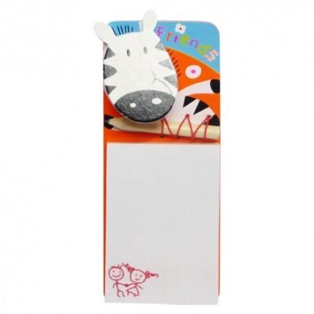 Poznámkový blok s ceruzkou - zebra
