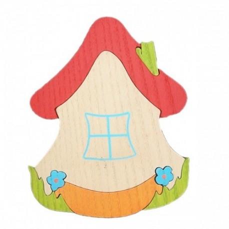 Drevená dekorácia - domček