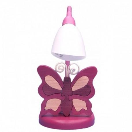 Detská stolná lampa - motýľ fialový