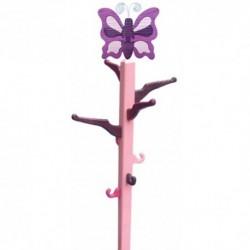 Detský izbový vešiak - fialový