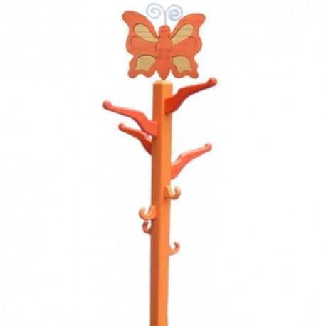 Detský izbový vešiak - oranžový