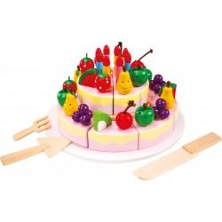 Legler Drevené potraviny na krájanie - ovocná torta