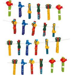 Legler Drevené štipce - zvieratká 24 kusov