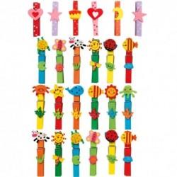 Legler Drevené štipce - pestrofarebné 24 kusov