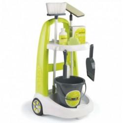 SMOBY detský upratovací vozík Clean Service a 8 doplnkov