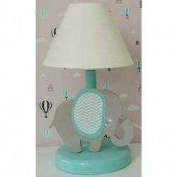 Detská nočná lampa - sloník tyrkysový