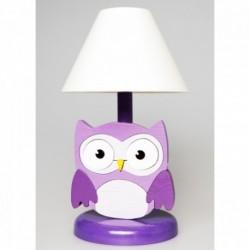 Detská nočná lampa - sova fialová