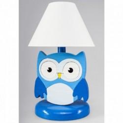 Detská nočná lampa - sova modrá