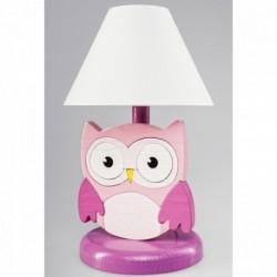 Detská nočná lampa - sova ružová