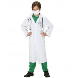 Detský doktorský plášť s rúškom na ústa veľ. 128 cm