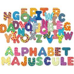 Drevené magnetky - veľké písmenká abecedy 56 kusov