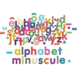 Drevené magnetky - malé písmenká abecedy 81 kusov