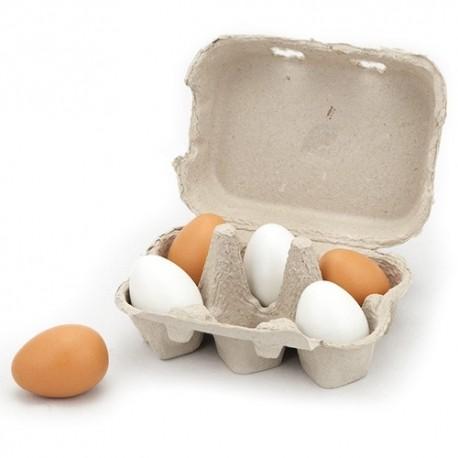 VIGA Drevené vajíčka 6 kusov