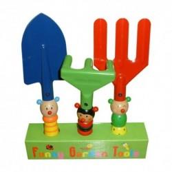 Detské záhradné náradie - farebný set