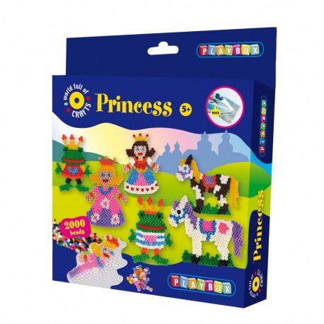 PLAYBOX Zažehľovacie korálky - set 2000 ks - Princezná