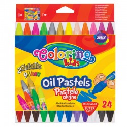 Colorino Kids farebné olejové pastelky 24 kusov TRIO