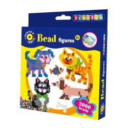 PLAYBOX Zažehľovacie korálky - set 2000 ks - Mačky a psy