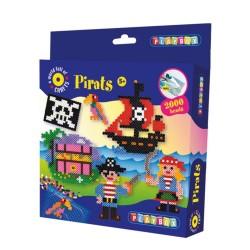 PLAYBOX Zažehľovacie korálky - set 2000 ks - Piráti