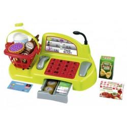 ÉCOIFFIER - Detská pokladňa s košíkom a 26 doplnkami