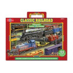 T.S. Shure Drevené magnetické puzzle 45ks-ové - Vlaky