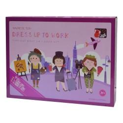 Drevené puzzle - obliekanie postavičiek - dievčenský set