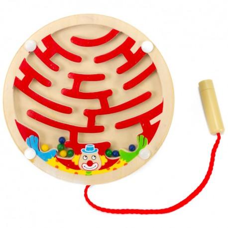 Viga Drevený magnetický labyrint kruhový - červený