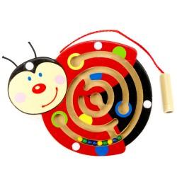 Viga Drevený magnetický labyrint malý - Lienka