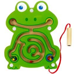 Viga Drevený magnetický labyrint malý - Žabka