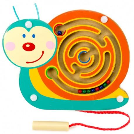 Viga Drevený magnetický labyrint malý - Slimáčik