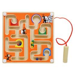 IMP-EX Drevený magnetický labyrint štvorcový - oranžový