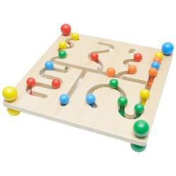 IMP-EX Drevený motorický labyrint s guličkami